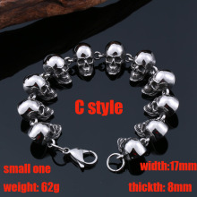 Beier 316L Stainless Steel bracelet punk skull Bracelet For Vintage Cool Dragon Style Men's Bracelet Jewelry BC8-036