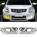 1 Pair Car Styling LED Daytime Running Light DRL Fog Lamp Turning Signal Decorative Accessories For Cadillac SRX 2012 2013 2014