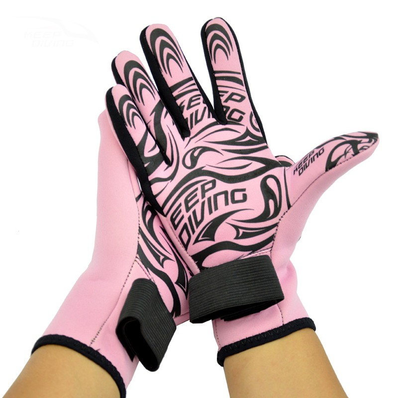 1 Pair 2mm Neoprene Scuba Diving Gloves Non slip Snorkeling Submersible Supplies Skiing Surfing Spearfishing Wet Suit New in Swimming Gloves from Sports Entertainment