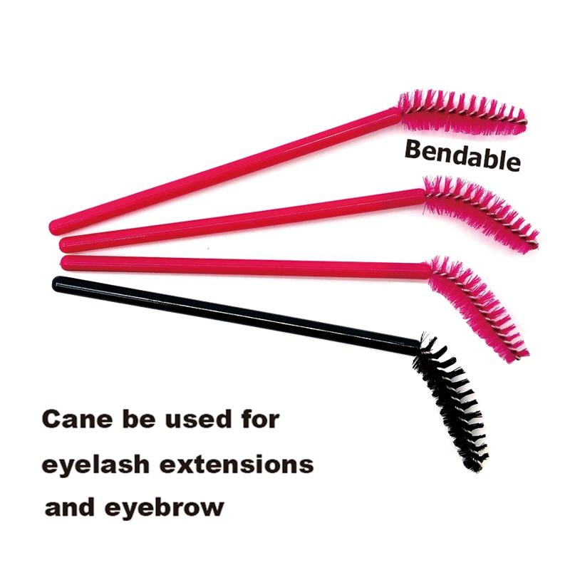 50Pcs Disposable Micro Eyelash Comb Brush Spoolers Makeup Kit Lash Extension Brushes Mascara Applicator Wand Lash Eyebrow Brush 2