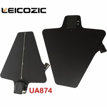 Leicozic UA874 Two Active Directional Antenna & Splitter Amp system kit UHF Integrated Microphone wireless ua845