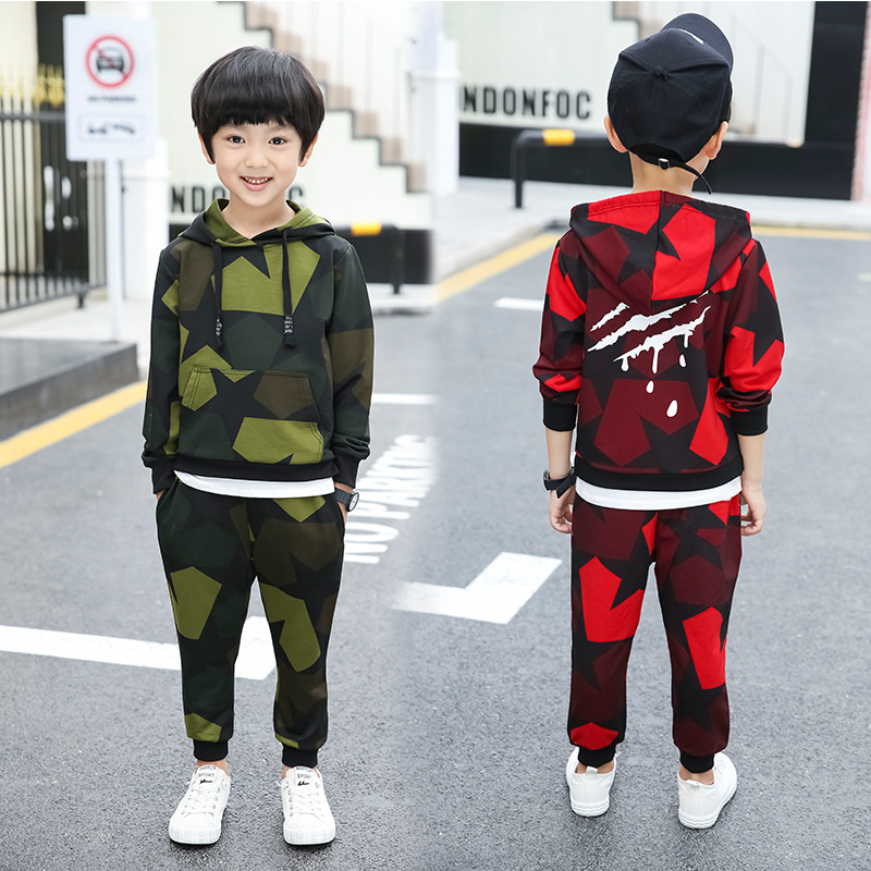 5-16T Childrens Boy Clothing Set Long Sleeve For Spring & Autumn 2018 New Fashion Hooded Pullover Two Pieces Suit High Quality5-16T Childrens Boy Clothing Set Long Sleeve For Spring & Autumn 2018 New Fashion Hooded Pullover Two Pieces Suit High Quality