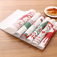 Waterproof Red Blue Reindeer Life 4 pieces Set Kitchen Table Mats PVC Table Napkin Reindeer Snowflake Pattern Decorative Placema