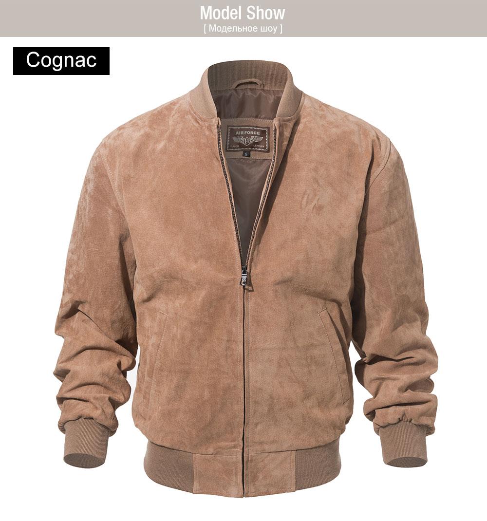 HTB1zH7AKXGWBuNjy0Fbq6z4sXXap FLAVOR Men Classic Real Pigskin Coat Genuine Baseball Bomber Leather Jacket