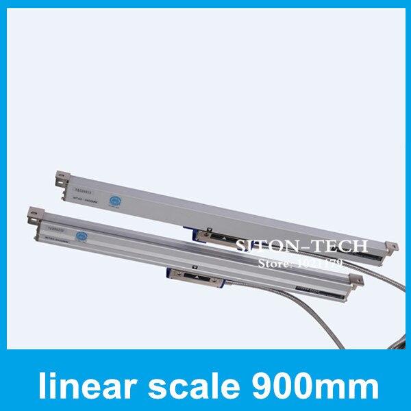Бесплатная доставка оптический масштаб рациональный wta5 900 мм 0.005 мм линейный измерения расстояния для сверлильный станок с ЧПУ