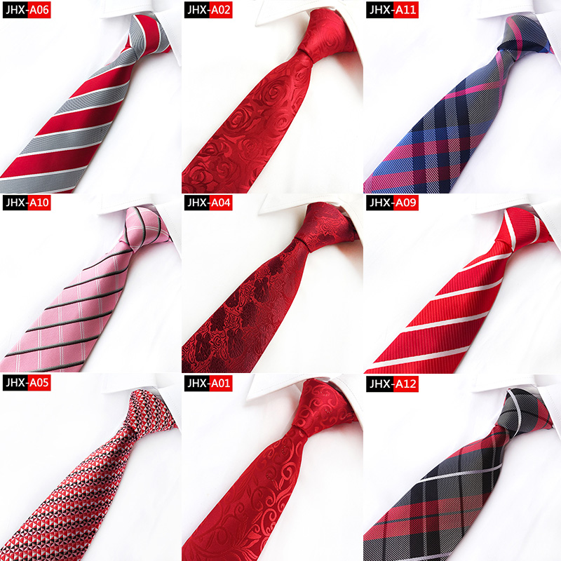 8cm Tie for Man Classic Stripe plaid Tie Flower Paisley Geometric Necktie Business Wedding Party Gravatas party Jacquard Ties plaid