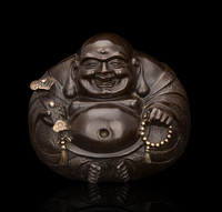 Copper decoration Fine Buddha Brass Good Quality Chinese Bronze statue of Buddha Laughing Buddha Blessing Small souvenir figures