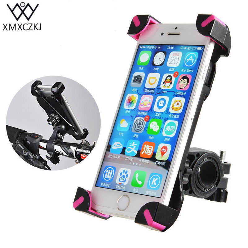 Universal Bike & Motorcycle Handlebar Phone mount Holder untuk IPhone Android Smartphone, GPS, Anti-Slip Silicone Pad, 360 Derajat