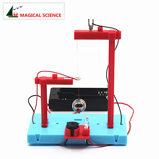 Wholesale Physical Experiment Earthquake Alarm DIY Material,home School Educational Kit For Kids,random Color Delivery