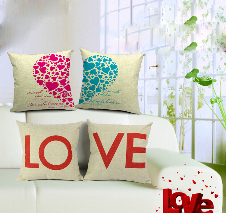 aliexpresscom buy romantic cushion love car bed printed bedroom lover heart home decor sofa vintage pillowcase cushions from reliable cushion cut - Home Decor Cushions