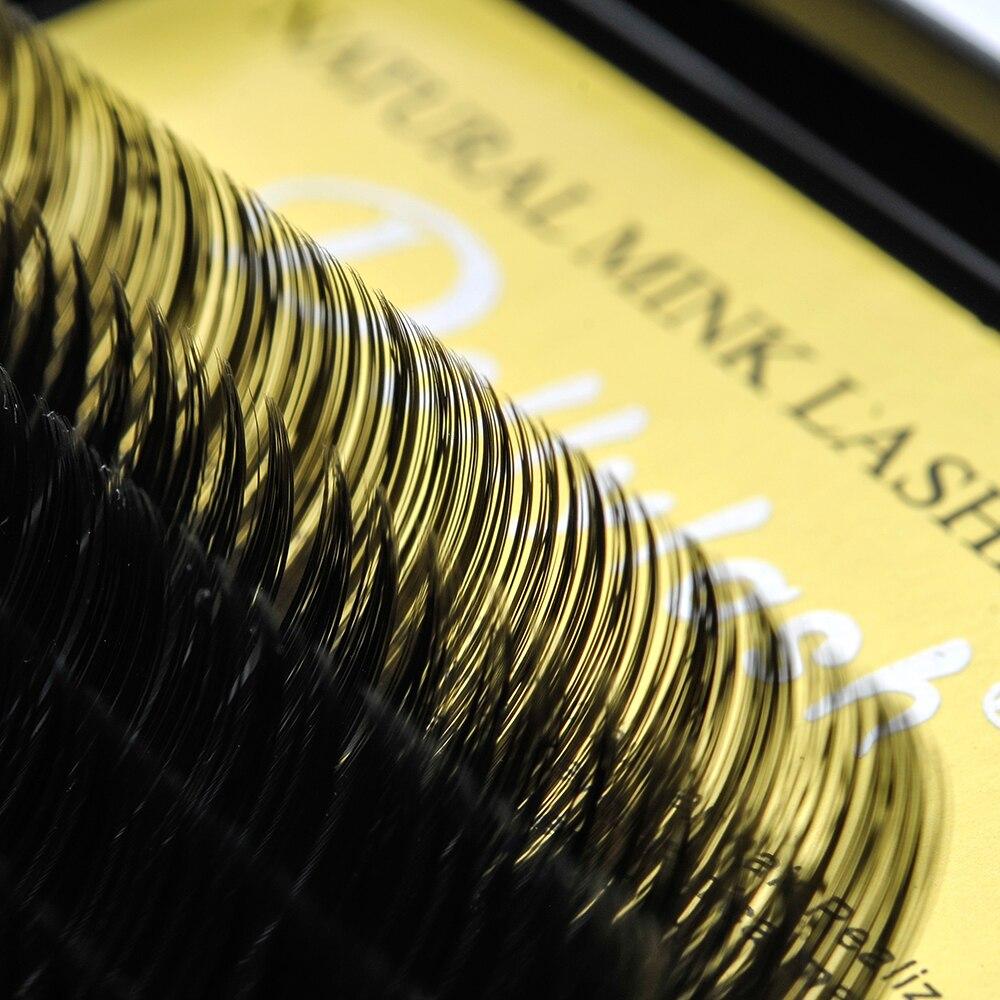 Dollylash 10Tray/lot Silk eyelashes J B C D Curl 7-15mm Mix Length Fur Fake Individual Eyelash extensions Black Eye Lashes