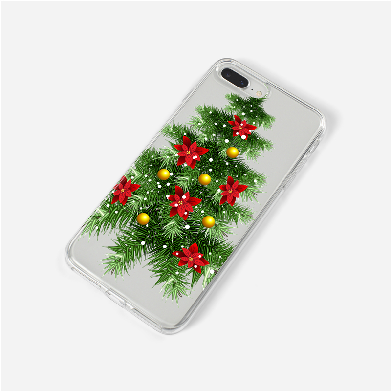 Merry Christmas Phone Case For Iphone 6 6s 7 8 Plus Giraffe Pattern Silicone Cases For Iphone 8 7 6 6s X Xs Max Xr Cover