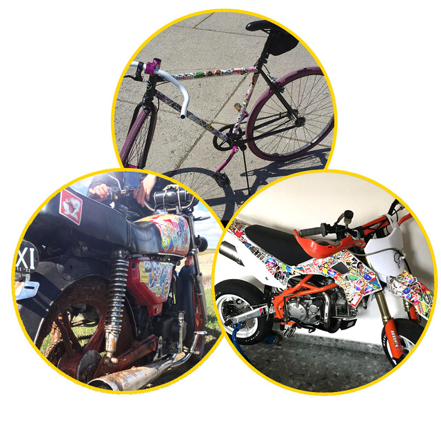 50 PCS Retro Style Sticker Graffiti Viaggio Divertente JDM Adesivi per il FAI DA TE Sticker sulla Valigia Dei Bagagli Del Computer Portatile di Skateboard Bicicletta Auto 5