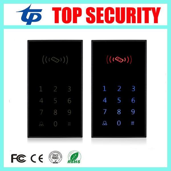 все цены на 5pcs New arrive good quality touch led screen RFID card access control reader standalone 125KHZ ID card access controller system онлайн