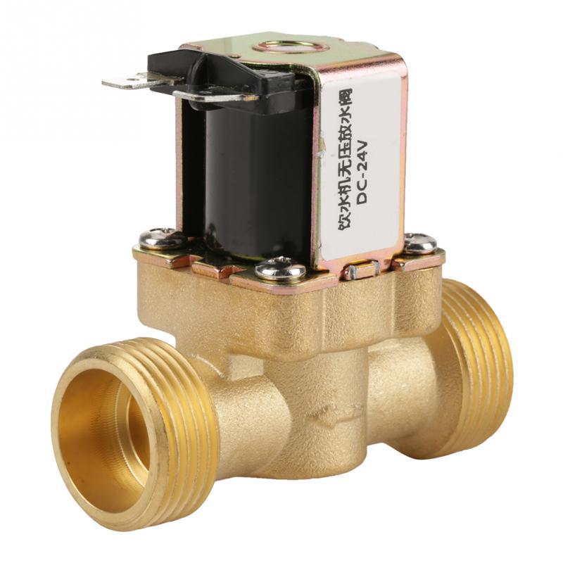 Feuchtigkeit-beweis 24 V Bspp Magnetventile G34 Messing Nc Normalerweise Elektrische Magnetventil 2 Weg Druck Regelventil Sanitär Heimwerker