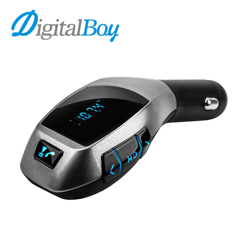 Digitalboy Bluetooth Car Kit Wireless FM Transmitter Car Mp3 Player Handsfree Call Music & USB Charger TF Card Port for Samsung