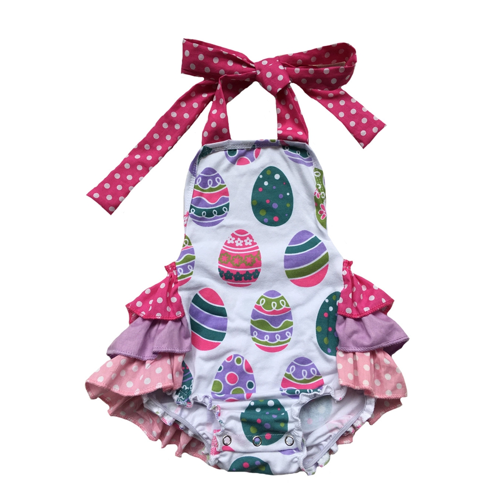 dad69e6fe4f Baby Shabby Pink Lavender Easter Egg mardi Gras 4th of July St. Patrick s  Day Romper Girls Sunsuit Baby Bubble Ruffle Romper-in Rompers from Mother    Kids ...