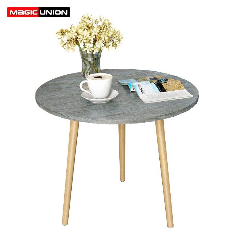 Aufrichtig Magie Union Loft Stil Seite Tisch Möbel Moderne Holz Wohnzimmer Tisch Massivholz Beine Sofa Seite Tisch Dauerhafter Service