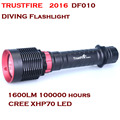 2016 НОВЫЙ TrustFire XHP70 DF010 LED Дайвинг фонарик CREE 1600 Люмен Дайвинг IPX8 50 М На 26650 Батареи фонарик