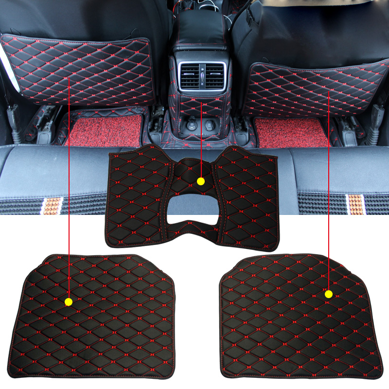 Car Seat Back Protector Case Cover for Kids Kick Mat Mud Clean PU Anti-kick Pad For KIA Sportage QL 2016 2017 Car Accessories car trunk curtain cover special for kia sportage 2016 2017 2018 ql 4th generation