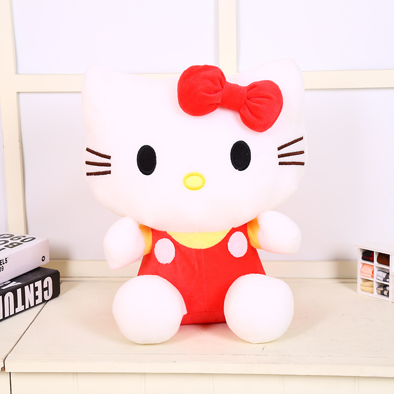 20CM Cute Hello Kitty Cat Plush Toy Lovely Stuffed Animal Doll Pillow Kids Toy Girlfriend Baby Birthday Gift Good Quality KT