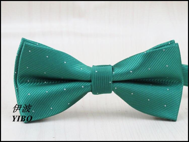 (1 Teile/los) Polyester Jungen Fliege/silber Dot Design/mann Mode Freizeit Formelle Kleidung Grün Bowknot Modern Und Elegant In Mode