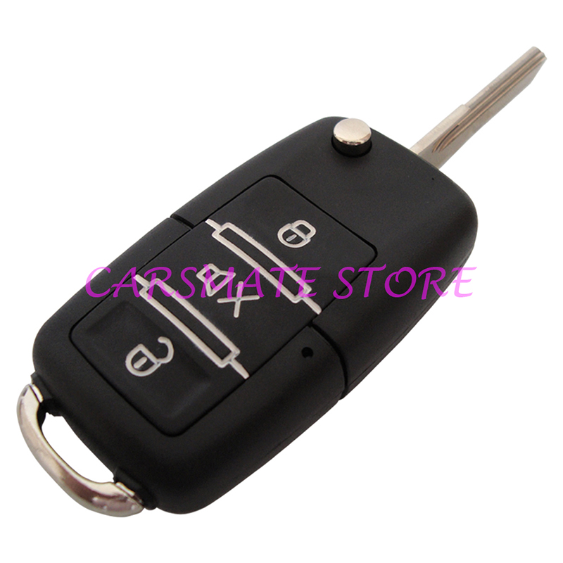 1 Way Car Alarm System Remote Central Lock With Flip Key Many Blank Keys Are Selectable Fast Shipping In 24 Hours Carsmate