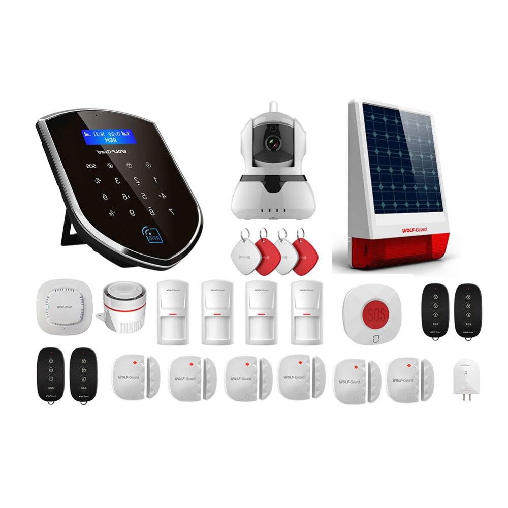 Loup-Garde WM3GR 3g Wifi Sans Fil de Sécurité À Domicile Système D'alarme DIY Kit APP Contrôle Détecteur de Mouvement Capteur Antivol système d'alarme