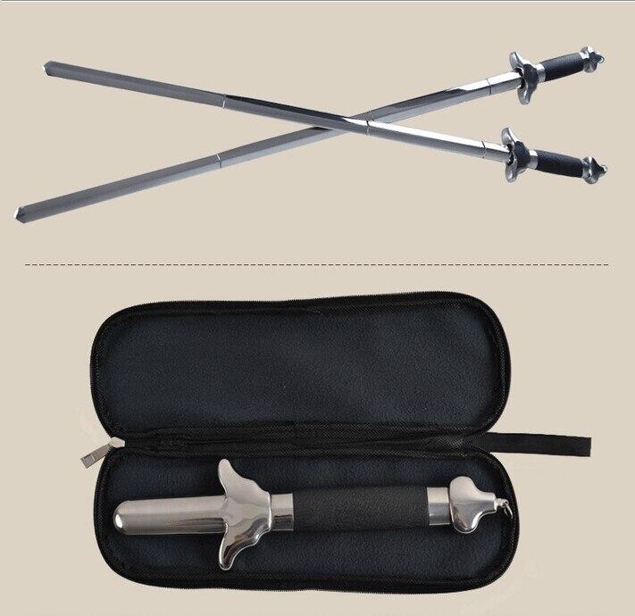 Haute qualité! Télescopique épée en acier inoxydable Tai chi kung fu martial art performances de fitness produits Obtenir un gland et paquet