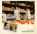 120 шт. мире Отличная Архитектура ВЕЛИКОБРИТАНИЯ Лондон Классический Строительство Тауэрский Мост DIY 3D Головоломки Кубических Fun 76 см Модель MC066h