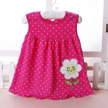 0-3T Girls Gress Summer Baby Girl Sleeveless Dress Princess Dot Newborn Striped Dresses Baby Girls Clothes Animal Floral Cotton