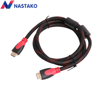 High Speed V1 4 HDMI Cable Gold Plated Connection HDMI To HDMI Cable With Red Black