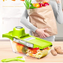 Safety Hand Protect Fruit Vegetable Slicer Cutter Chopper Set  6 Interchangeable Stainless Steel Blades