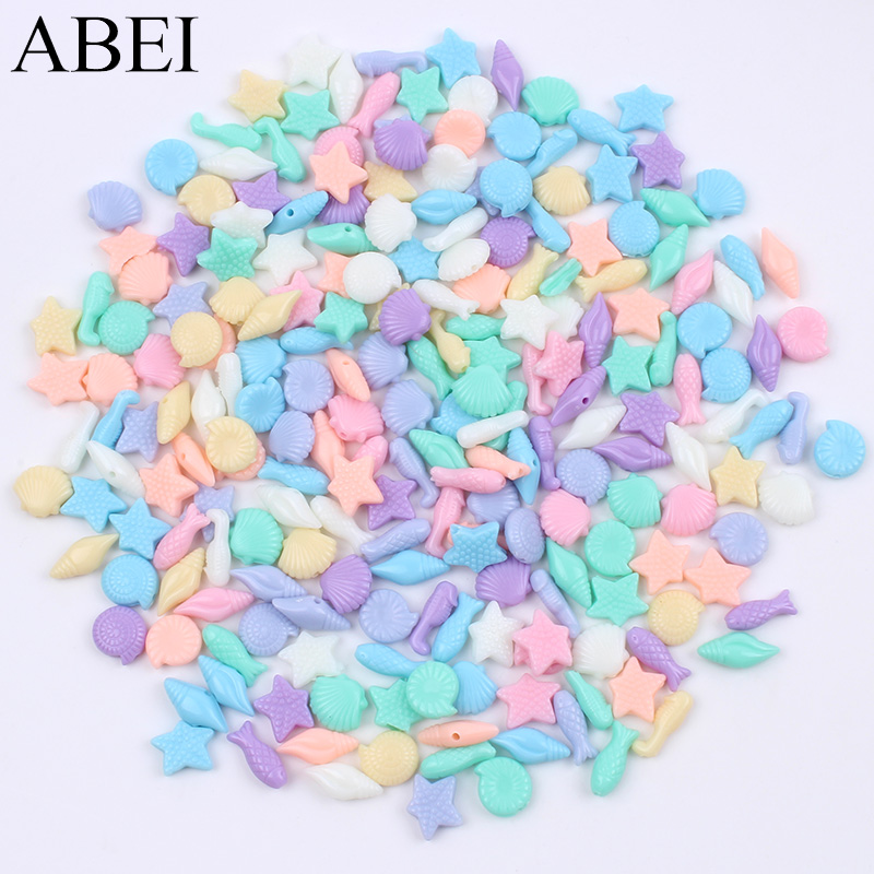 100pcs Mix Styles Random Color Resin Cartoon Buttons Plastic Ocean Animal button Handmade Crafts DIY Sewing Garment Accessories button