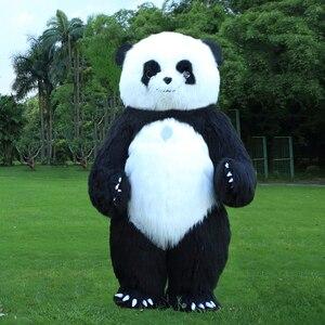 Image 3 - פנדה מתנפח תלבושות דוב קוטב קמע מתנפח תלבושות ליל כל הקדושים תלבושות עבור 3M גבוה מתאים עבור 1.7m כדי 1.95m למבוגרים