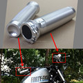 Free Shipping Motorcycle 1Inch 25mm CNC Rough Crafts Silver Handle Grips Fit for For Harley DUAL CABLE MODELS Custom New