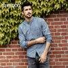 SIMWOOD 2018 Fashion Spring Shirts Famous Brand 100 Cotton Long Sleeve Denim Shirts Men Casual Men