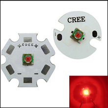 3W Cree XPE XP-E Red 620nm~630 LED Light Lamp With 16mm/20mm PCB Star Base 90LM 2.4~2.6V