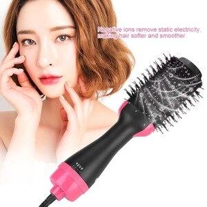 Image 3 - Lisapro щетка для горячего воздуха стайлер и сушилка одношаговый фен и волумайзер для завивки волос выпрямитель расческа Инструменты для укладки волос