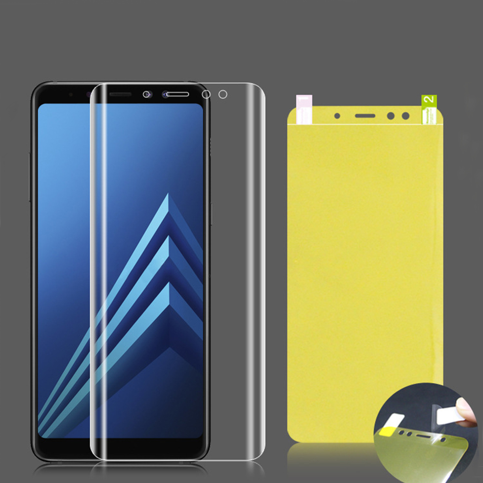 Soft-Full-Cover-Protective-Film-For-Samsung-Galaxy-A7-A8-A6-Plus-J4-J6-J8-2018