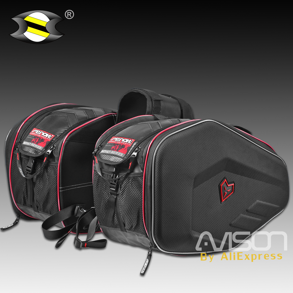 Universal Motorcycle Waterproof saddle bag Luggage Double Seat racing travel outdoor package big space with rain