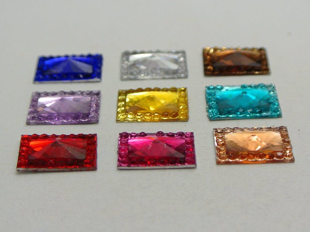 6 mm Cristales Gemas Pegajoso Espalda Diamante XL Hojas 2 mm auto adhesivo rhinestones