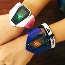 Hot Fashion Couple Watch Seven Color Luminous Kids Toy Men Women Sports Children Students Girl Bracelet Watch wholesale(China)