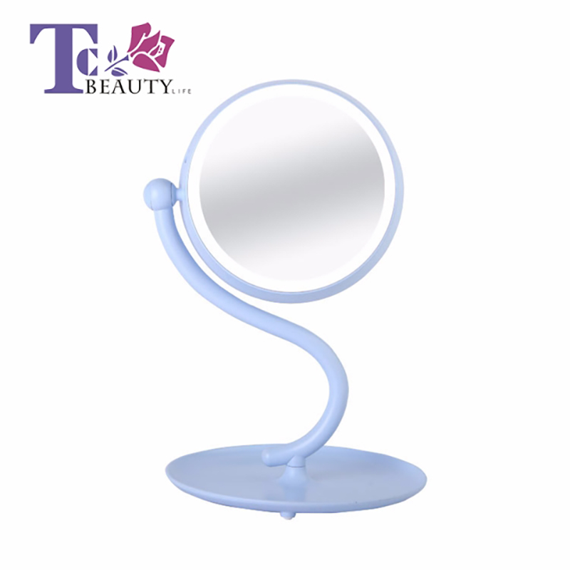 Led Light Portable Makeup Mirror Table Cosmetic Desktop Standing Mirrors Round Lamp Vanity Cosmetic Tools Compact Travel Women все цены