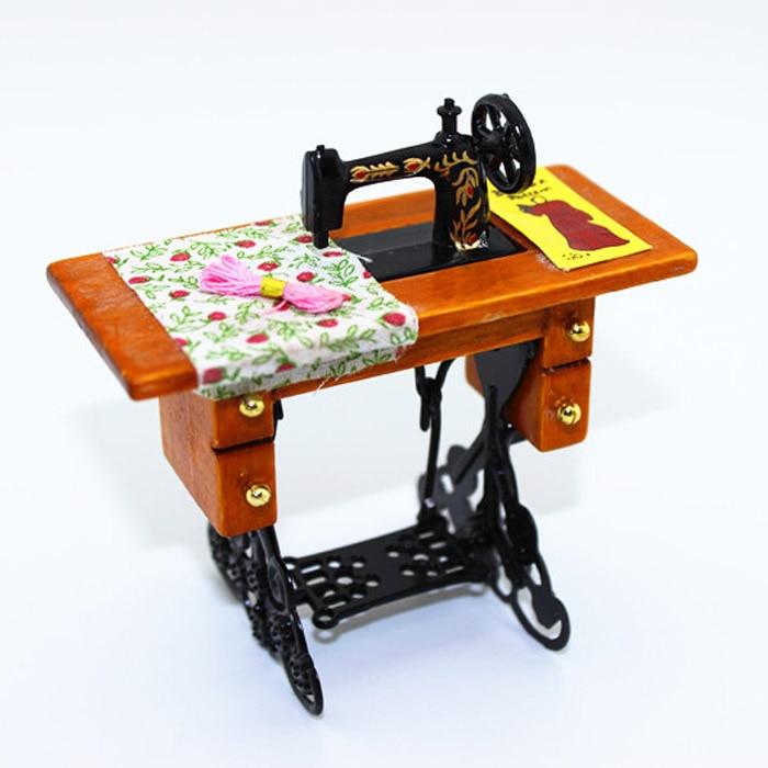 1:12 מיניאטורות וינטג 'מיניאטורות מספריים מכונת תפירה בית בובות אביזרי בובות מיניאטורות אביזרים חדשים