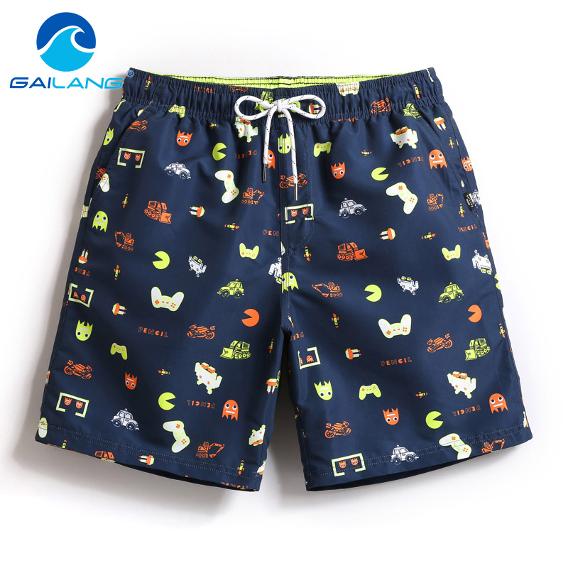 Gailang Brand Men Beach Shorts Swimwear Swimsuits Boardshorts Quick Drying Casual Shorts Bottoms Summer Boxer Trunks Shorts New