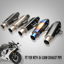 Universal 36-51MM Motorcycle Accessories Muffler scooter Escape Modified  Exhaust Pipe for TMAX500 TMAX530 TMAX 530 DX SX XP530