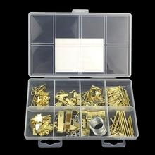 200pcs/set 2018 New Golden Hanging Picture oil Painting Mirror Frame Hooks Hangers With Nails for Frames#11
