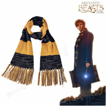Free Shipping Fantastic Beasts and Where to Find Them Newt Scamander Winter Fringing Scarf Film Cosplay Accessories