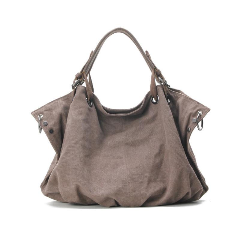 Homeda Women Handbag Canvas Large Capacity Women Bag For Teenager Fashion Women Shoulder Bag Messenger Bags Mochila fn01 multifunction canvas shoulder bag handbag backpack for women khaki